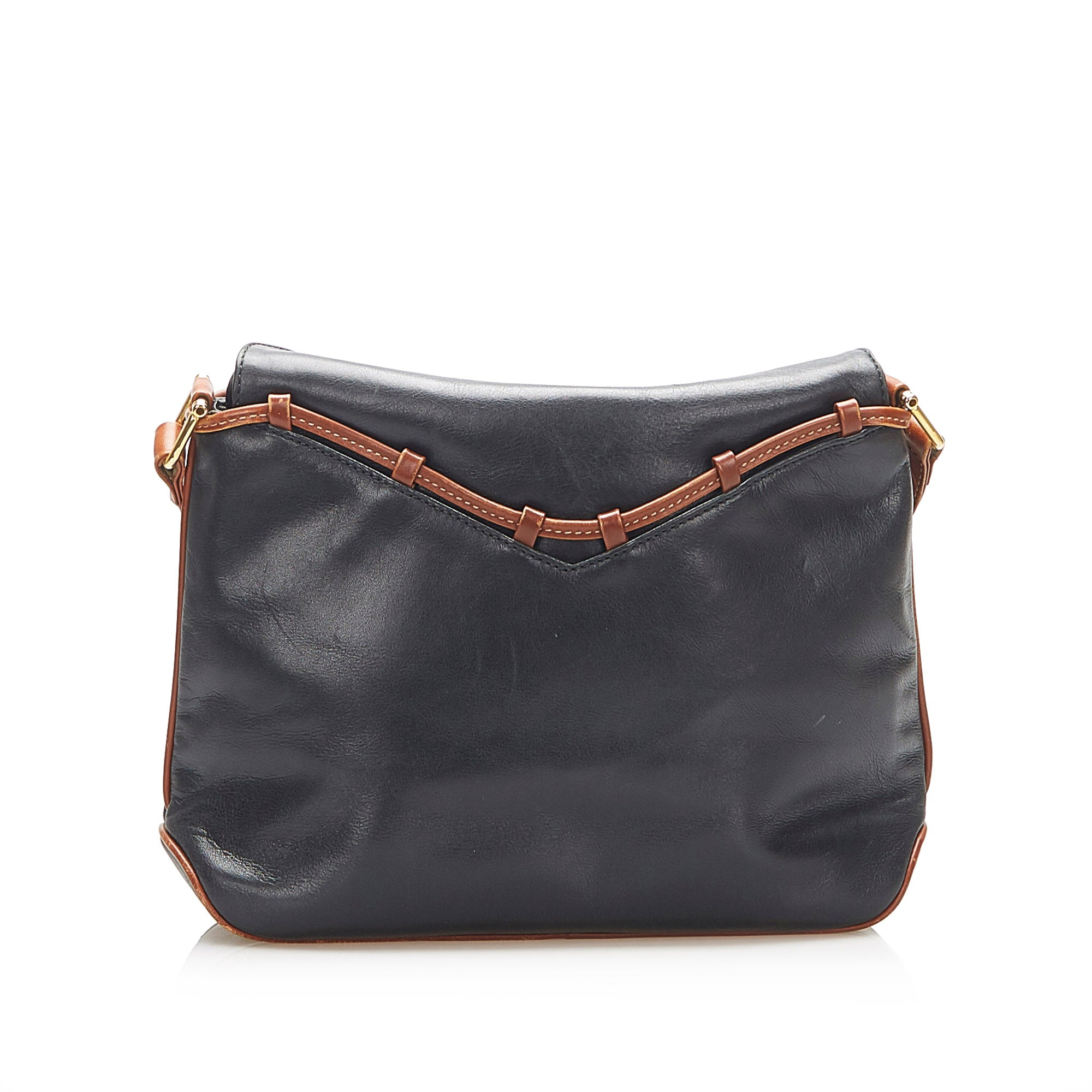 Celine Black Leather Crossbody Bag