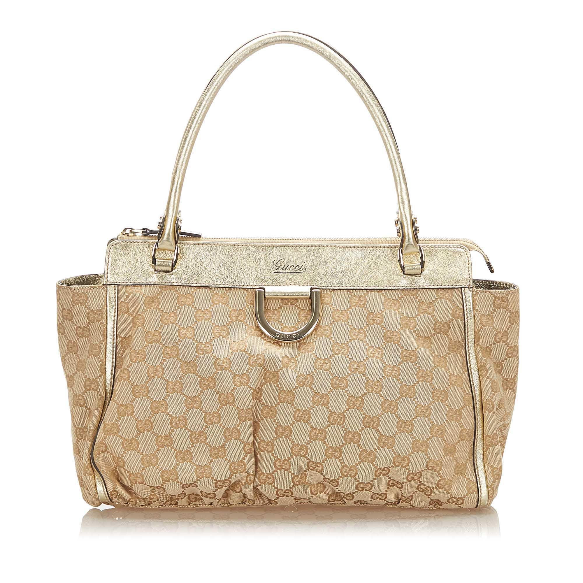 Gucci Brown Abbey GG Canvas Handbag