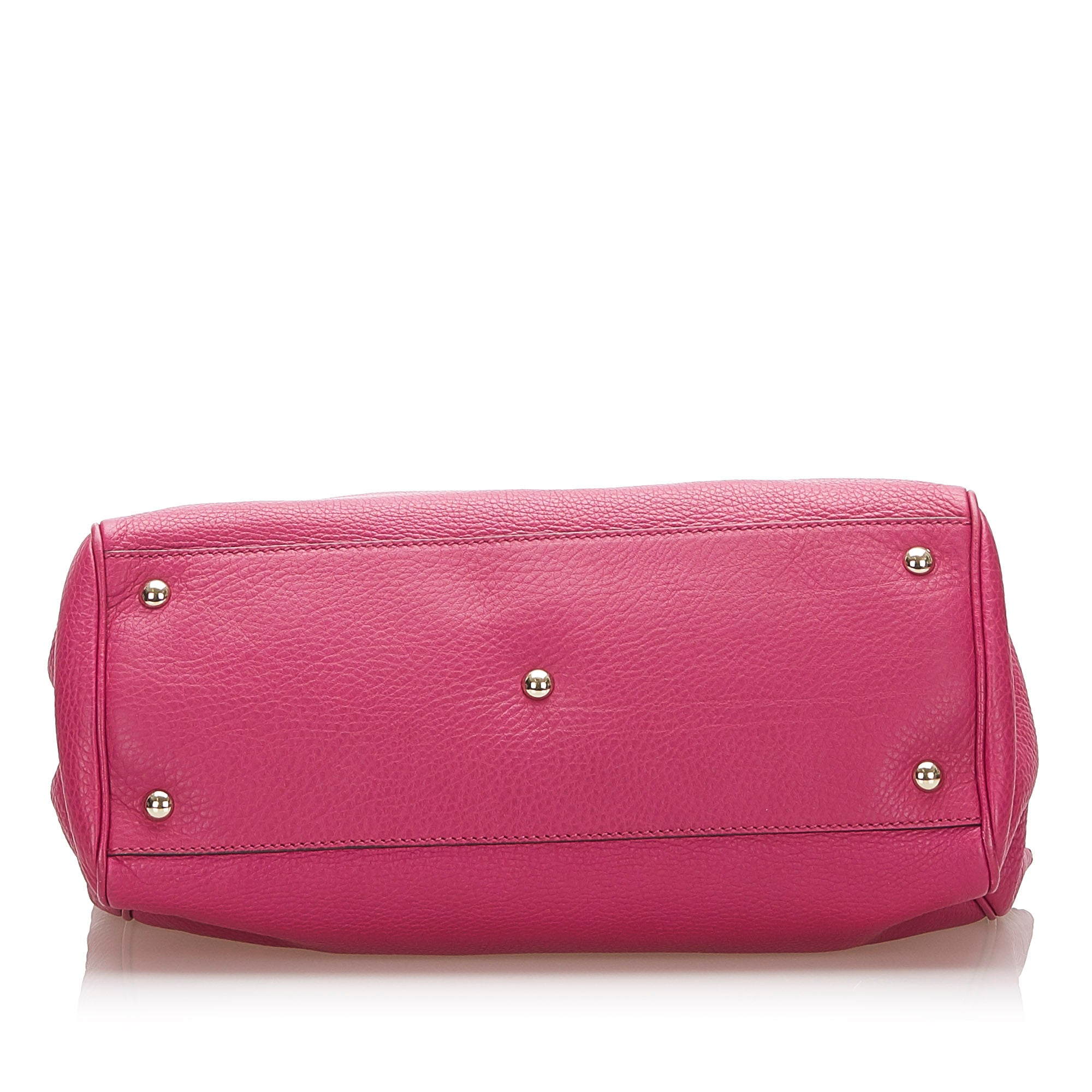 Gucci Pink Bamboo Shopper Leather Satchel