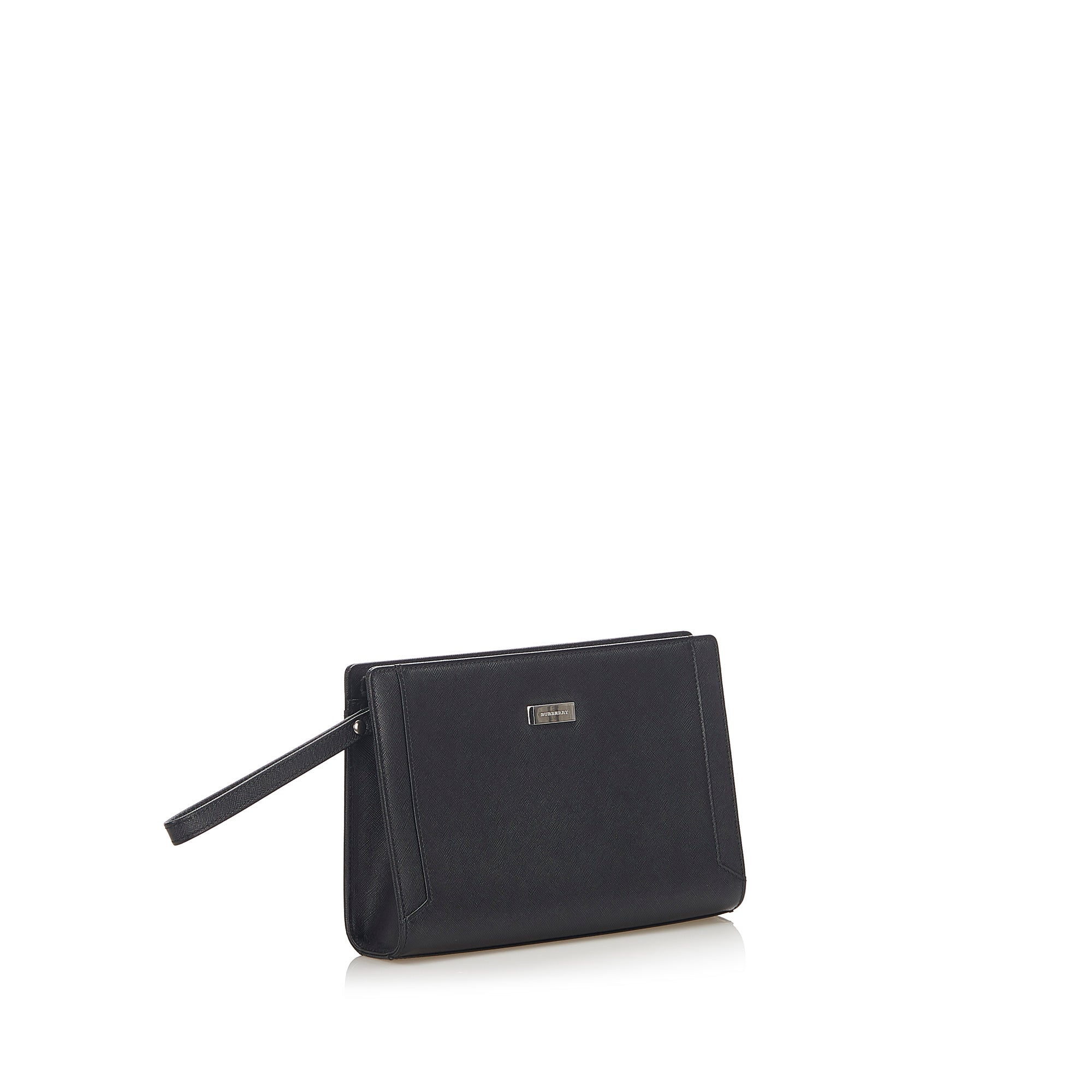 Burberry Black Leather Clutch Bag