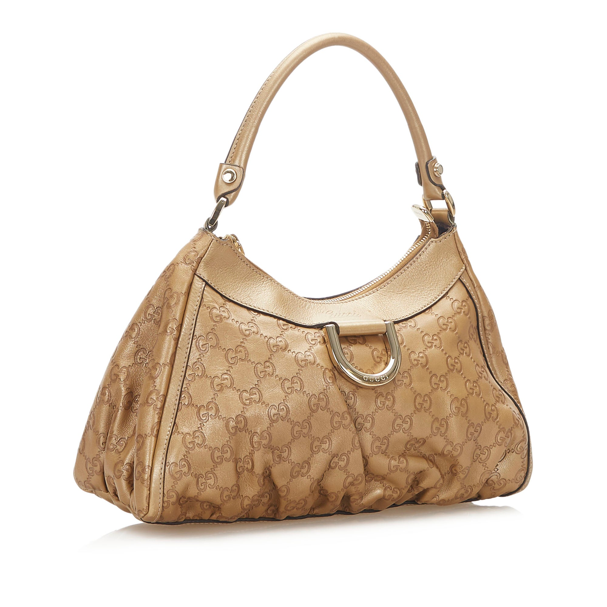 Gucci Brown Guccissima Abbey D-Ring Shoulder Bag