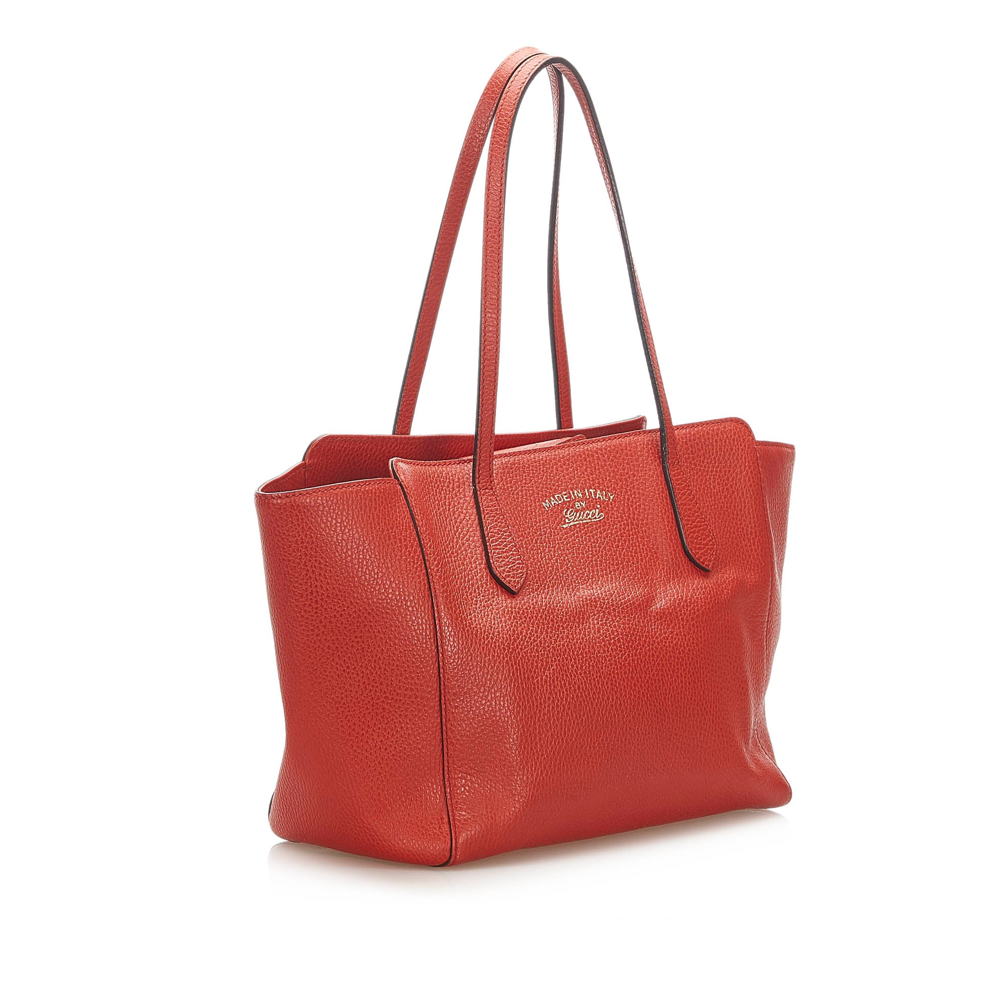 Gucci Red Swing Leather Tote Bag
