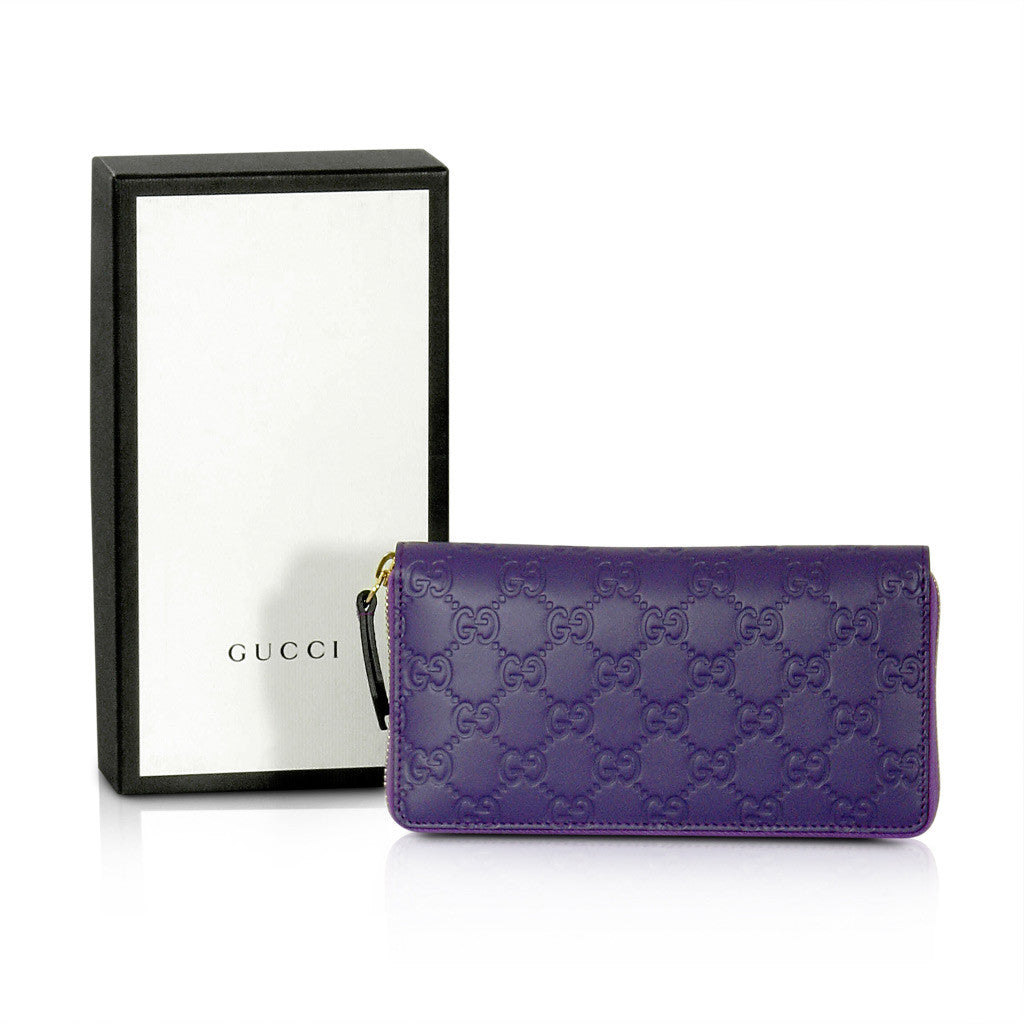 Gucci Purple Zip Around Wallet