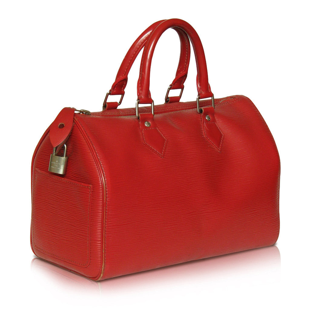 Louis Vuitton Speedy 28 in Red EPI Leather