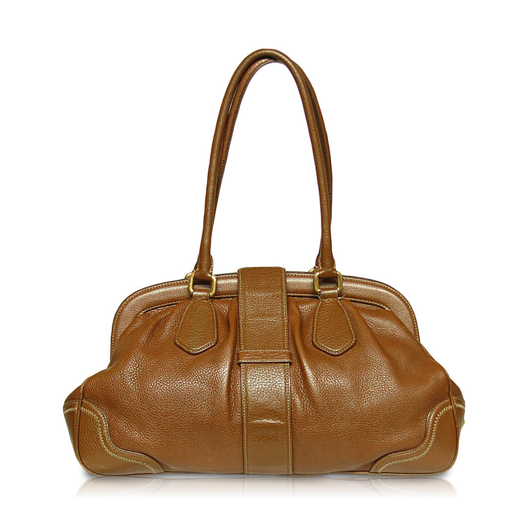 Prada Satchel Handbag Tan