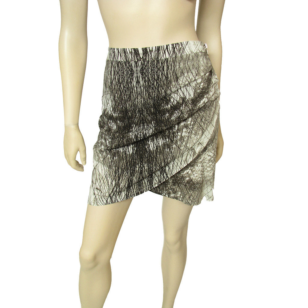 Set Skirt Gray and Black Print