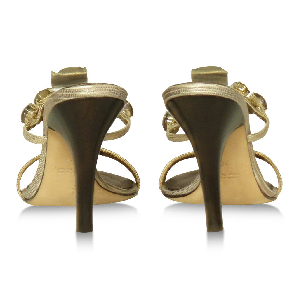 Giuseppe Zanotti Taupe and Gold Sandals
