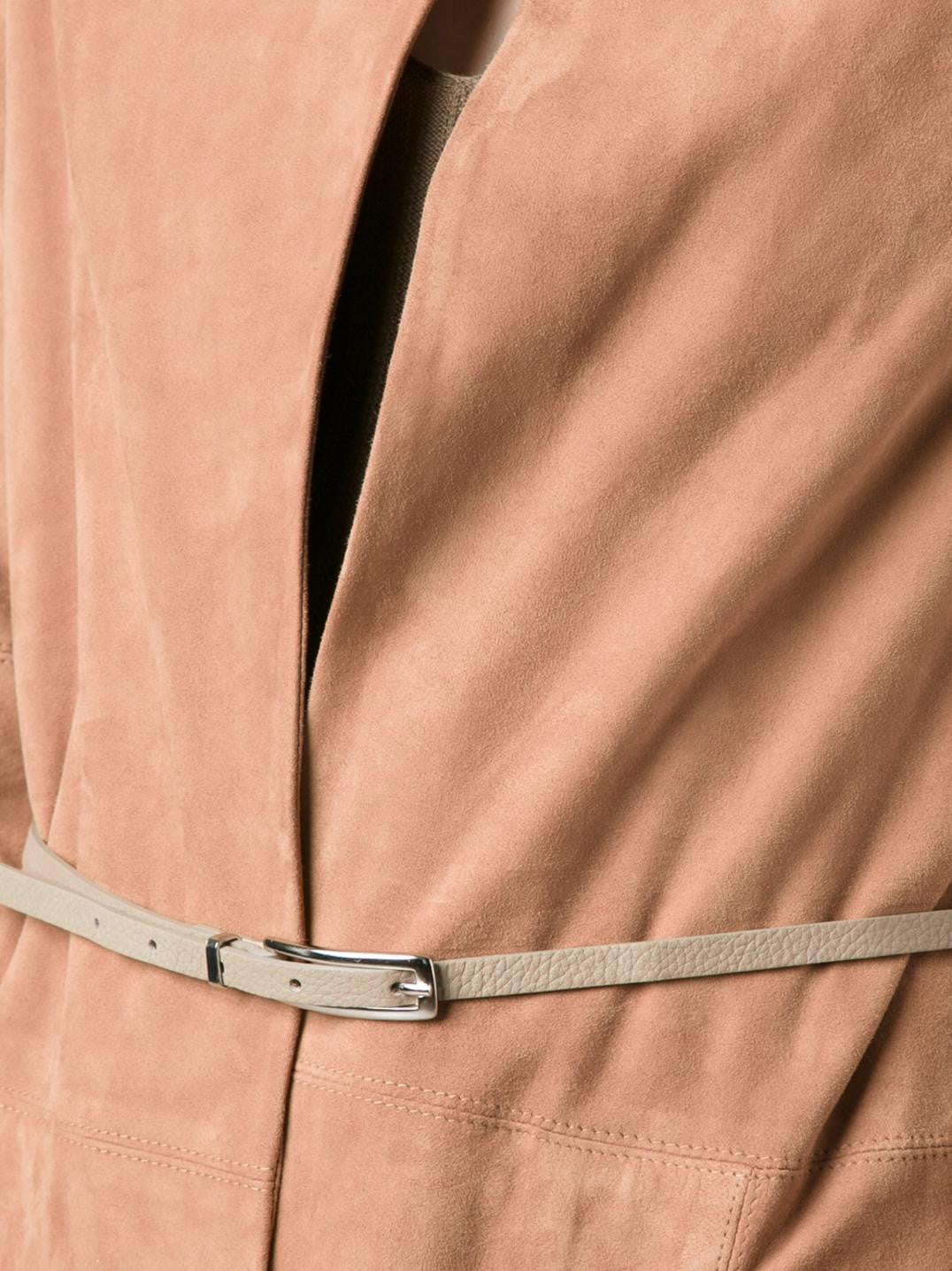 Fabiana Filippi Tan Suede Jacket