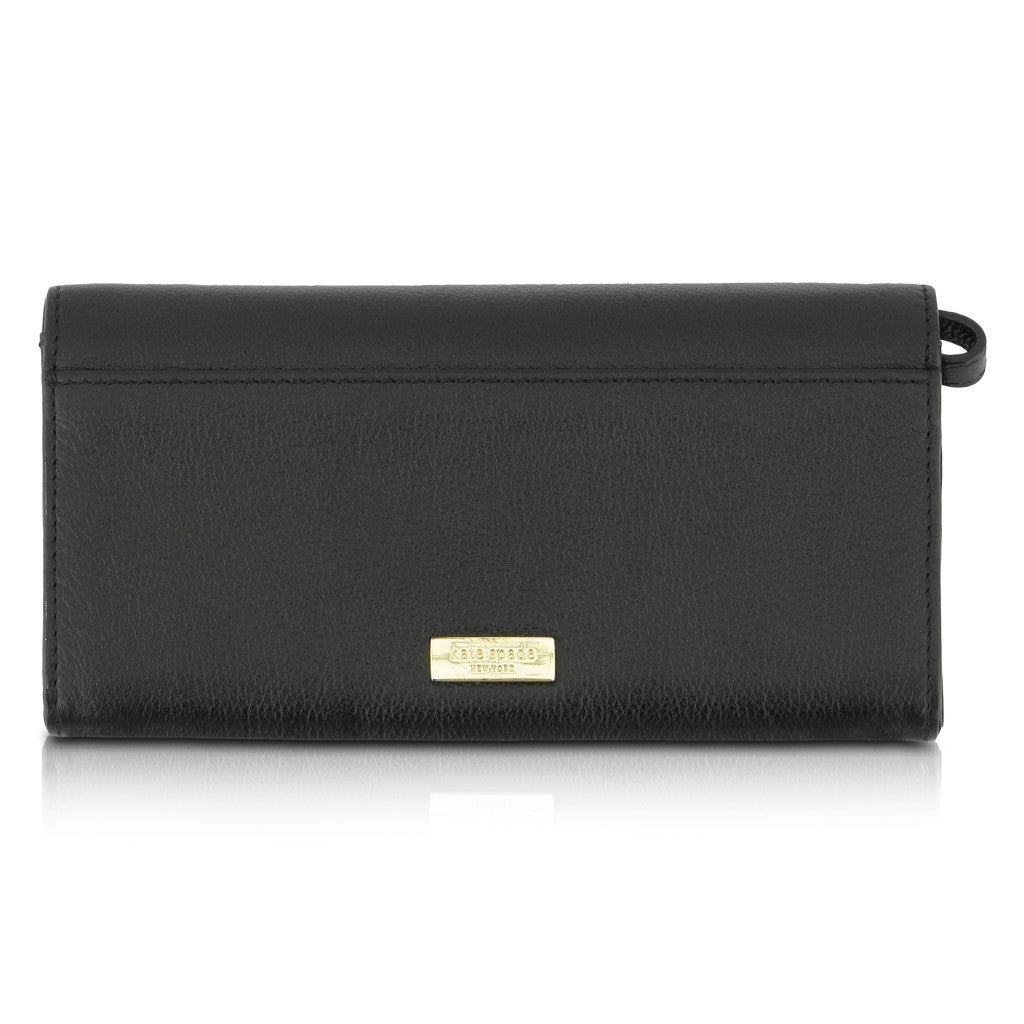Kate Spade Black Leather Wallet with Bow