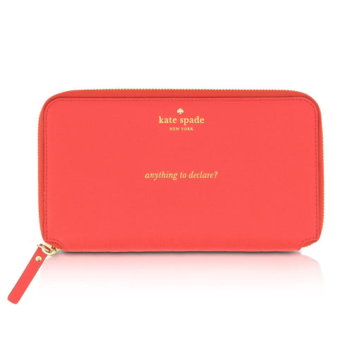 Kate Spade Red Leather Travel Wallet