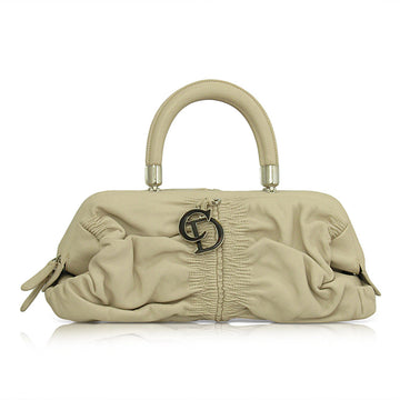 Christian Dior Beige Leather Karenina East/West Satchel Bag
