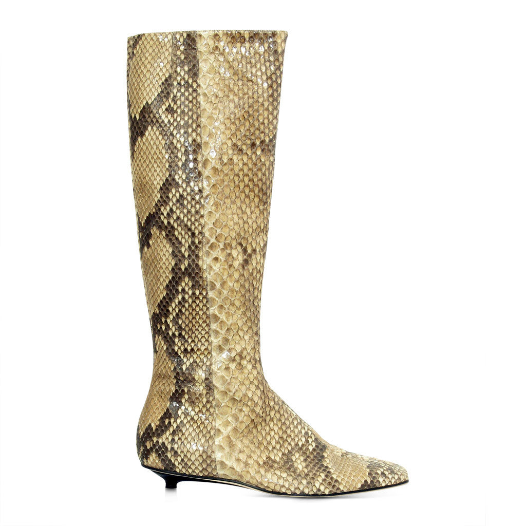 Christian Lacroix Snake Skin Boots