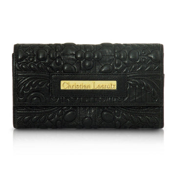Christian Lacroix Black Leather Wallet