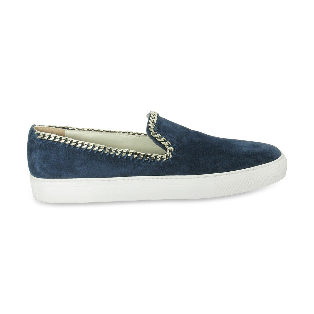 Louis Leeman Chain Trim Slip On Shoes