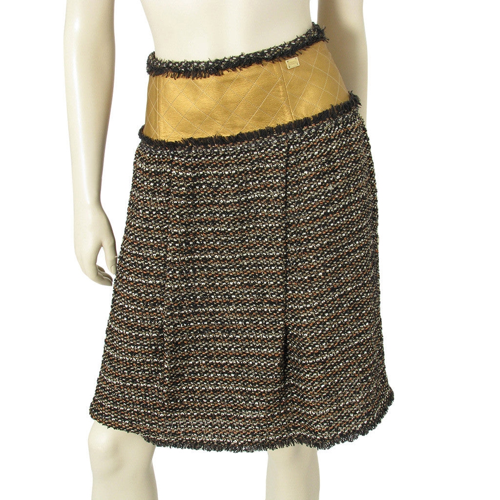 Chanel Black and Gold Skirt