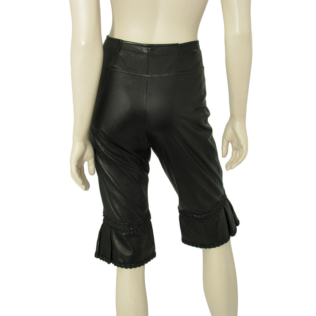 Chanel Black Leather Pantaloon