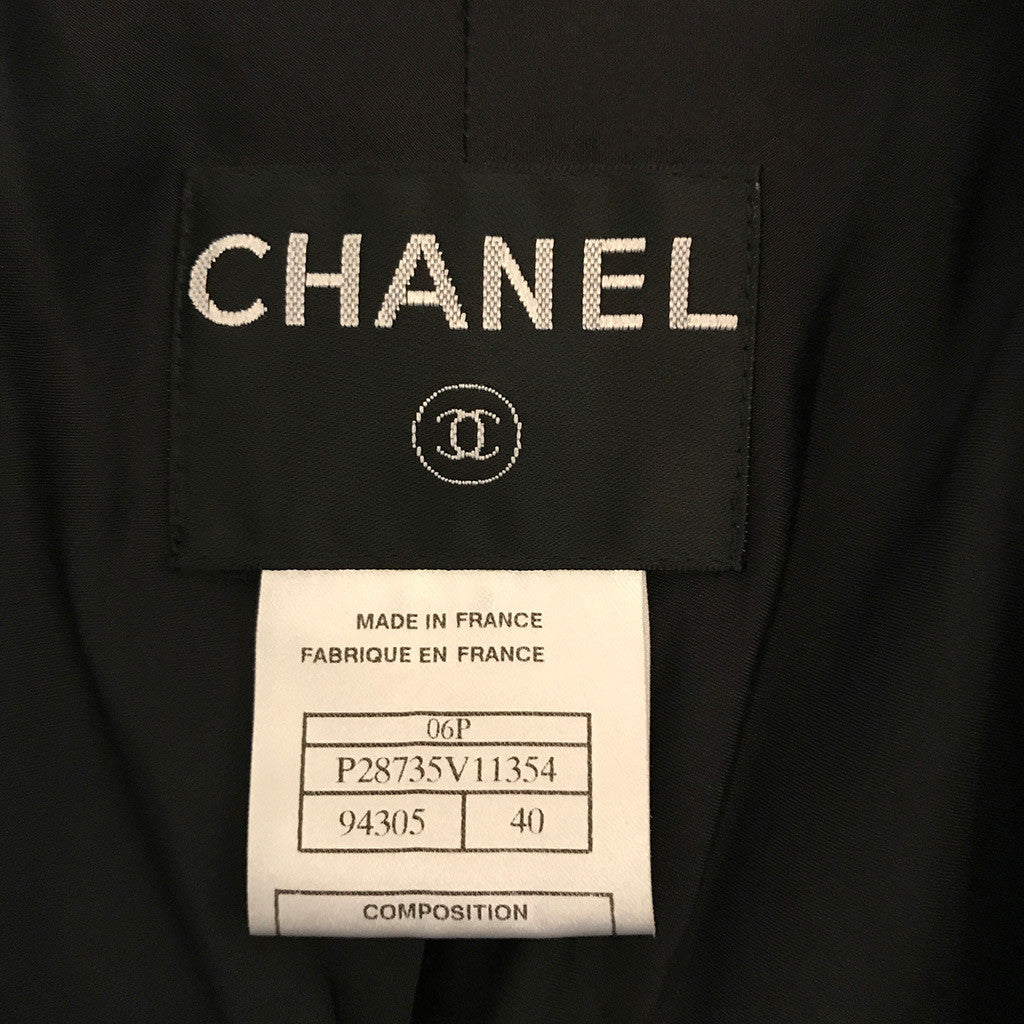 Chanel Black Cocktail Dress