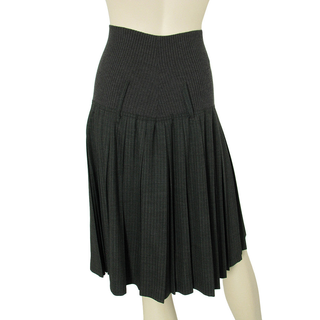 Jean Paul Gaultier Skirt and Top Set with Pin Stripe