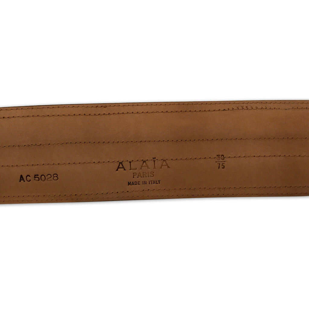 Alaia Black Leather Belt
