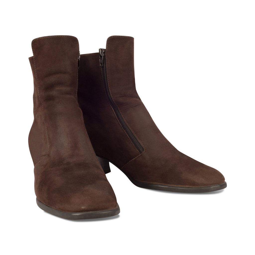 Arche Brown Suede Booties