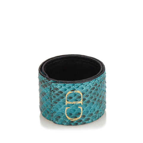 Christian Dior Embossed Leather Cuff