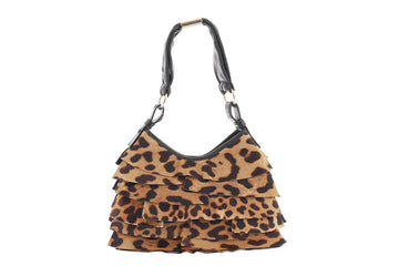 YSL Brown Cheetah Print Pony Hair St. Tropez