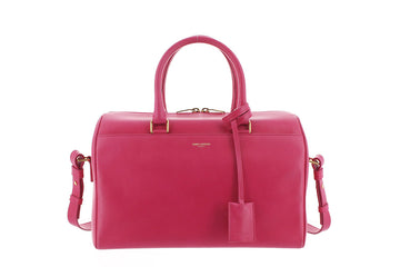 YSL Pink Leather Classic Duffle Satchel