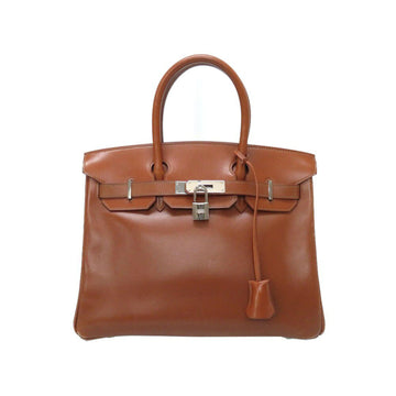 Hermes Brown Box Calf Noisette Birkin 30