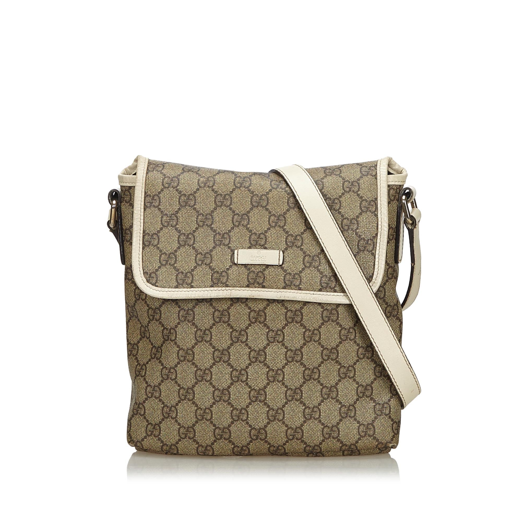 Gucci Brown GG Supreme Coated Canvas Crossbody Bag