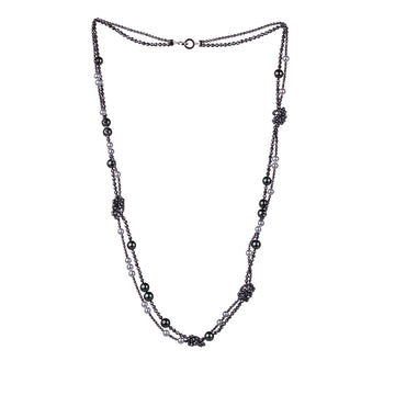 Tasaki Gray Hematite and Pearl Necklace