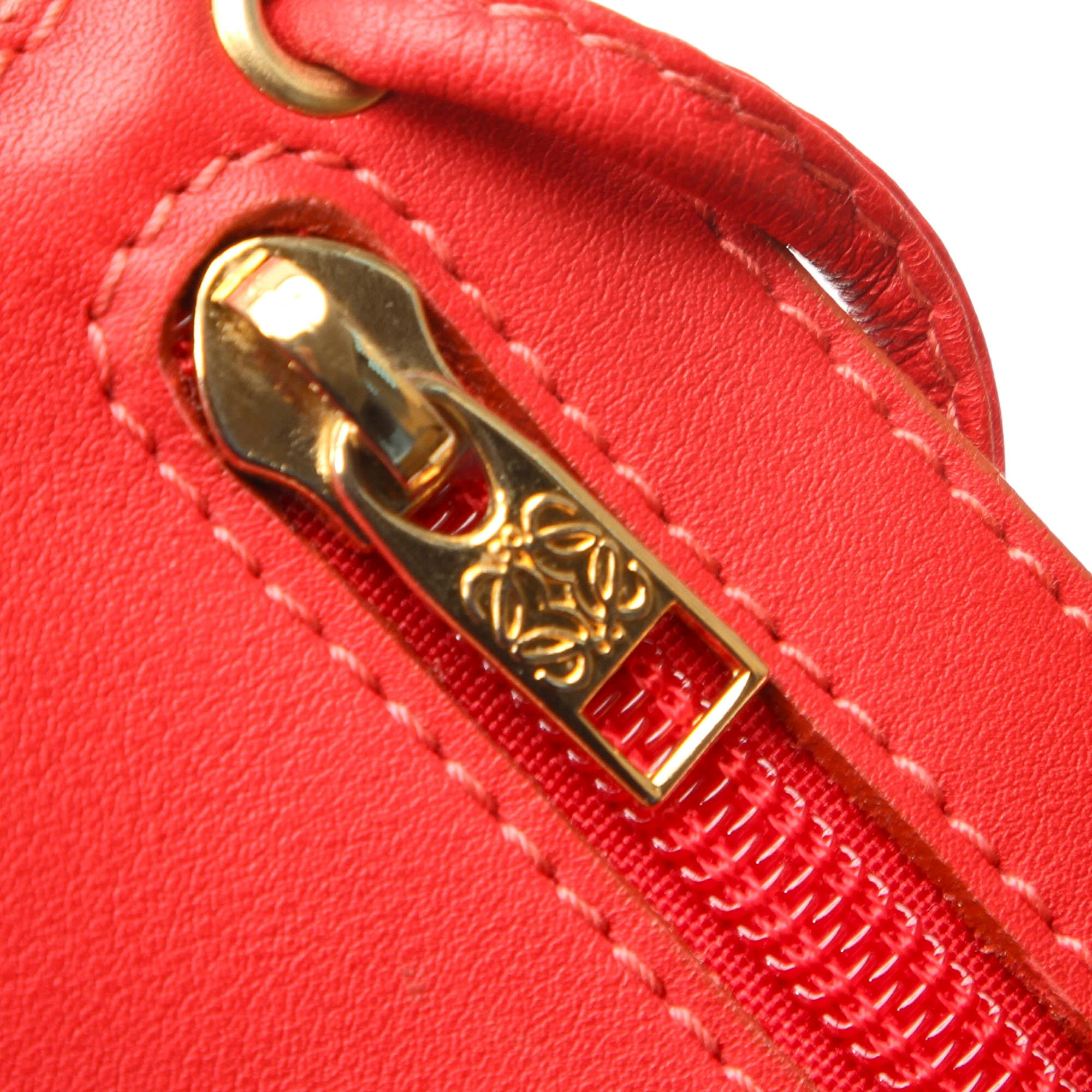 Loewe Red Drawstring Leather Backpack