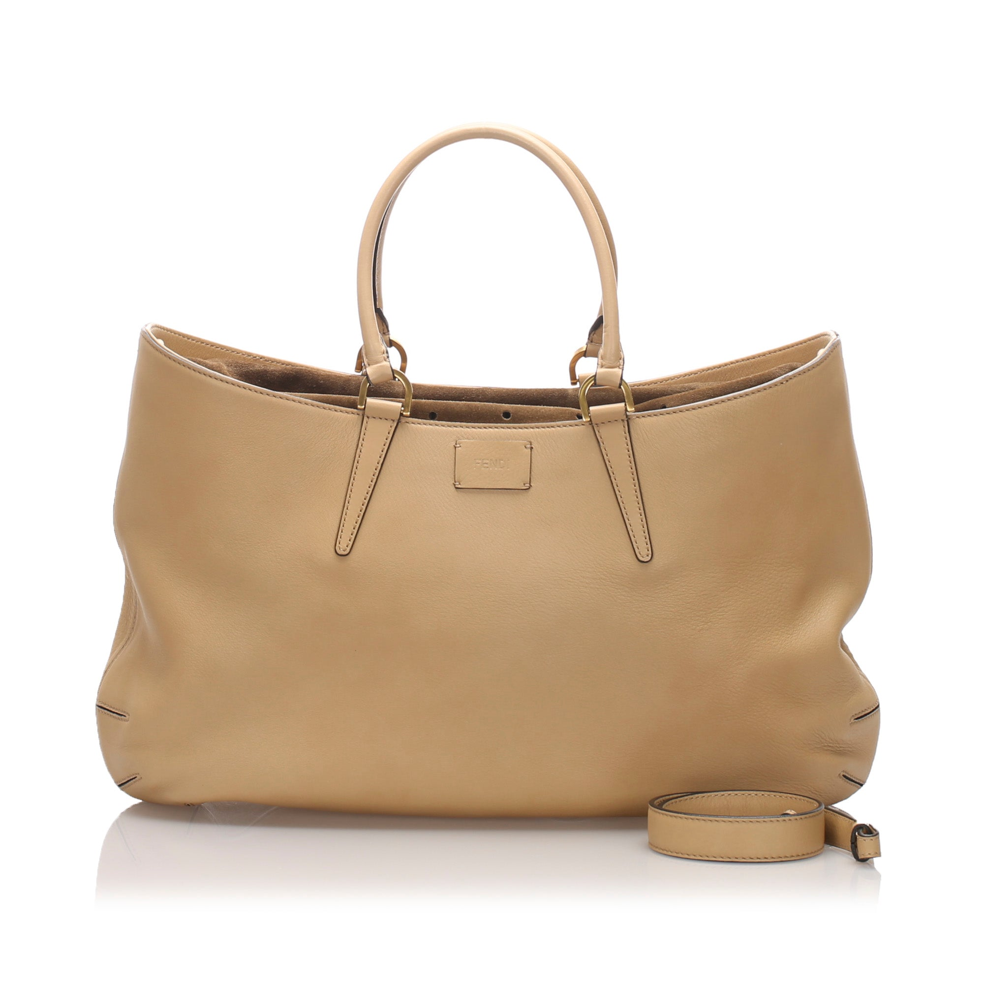 Fendi Brown Leather Tote Bag