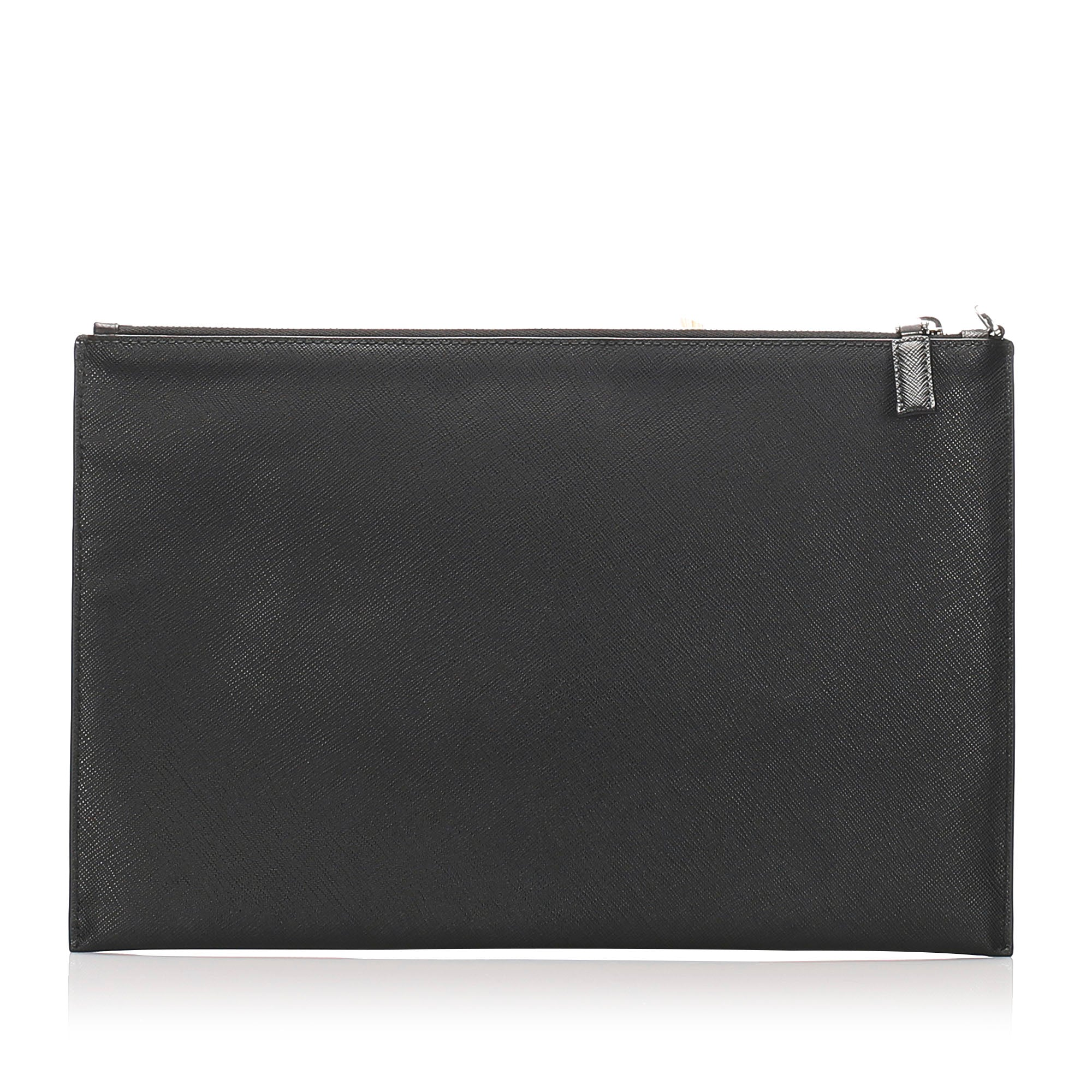 Prada Black Saffiano Clutch Bag