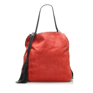Bottega Veneta Red Canvas Shoulder Bag
