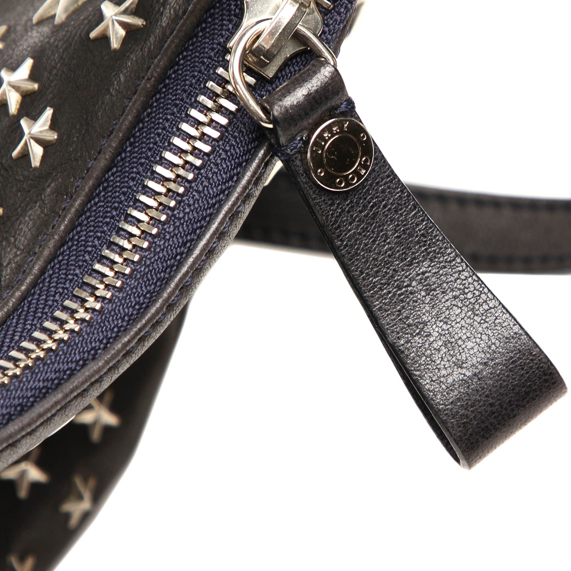 Jimmy Choo Black Studded Stella Star Leather Handbag