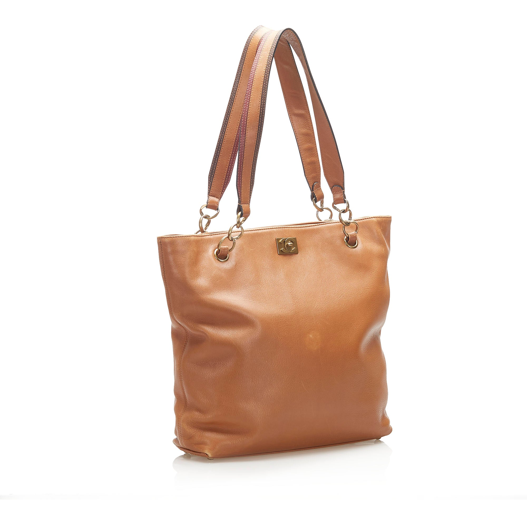 Chanel Brown Lambskin Leather Tote Bag