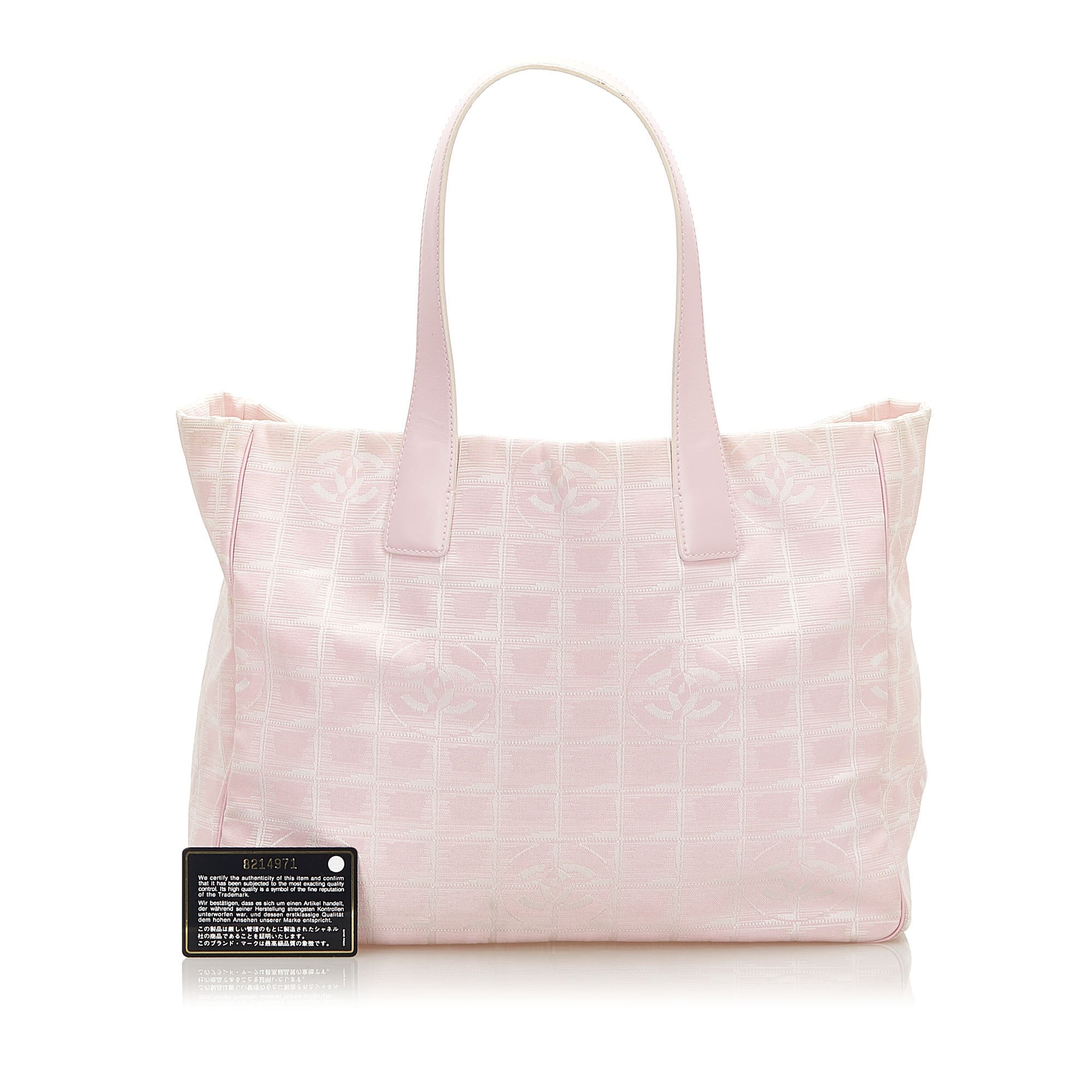 Chanel Pink New Travel Line Canvas Tote Bag