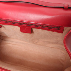 Gucci Red Medium Queen Margaret Bamboo Top Handle Satchel