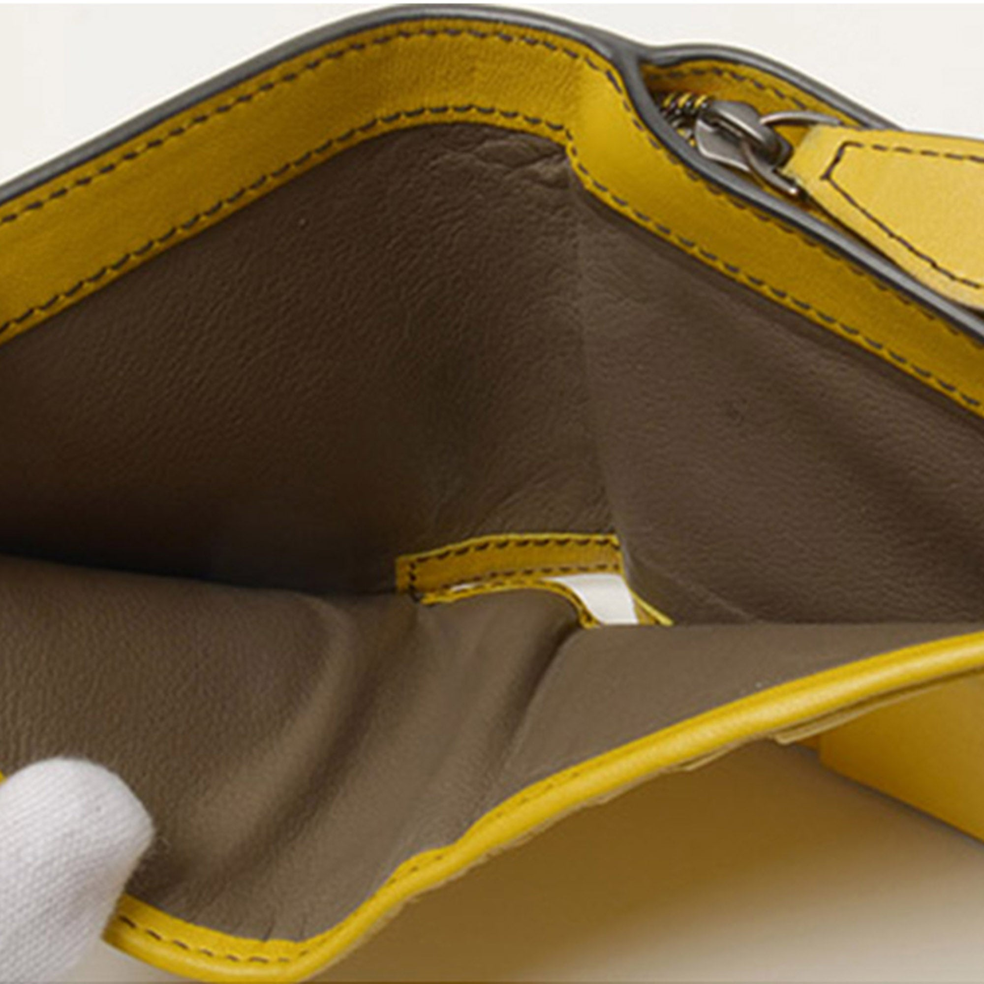 Bottega Veneta Yellow Intrecciato Leather Bifold Wallet