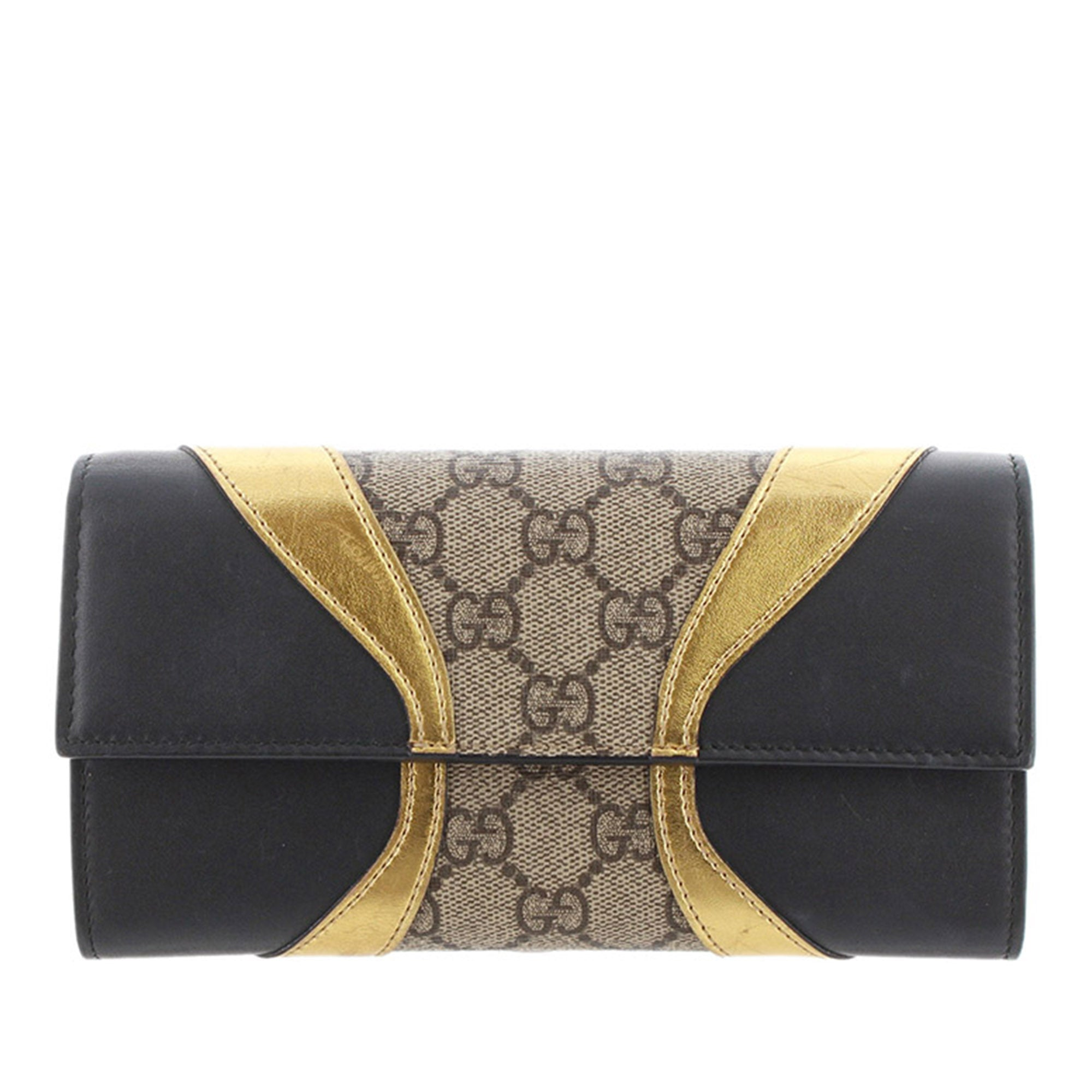 Gucci Brown GG Supreme Osiride Long Wallet