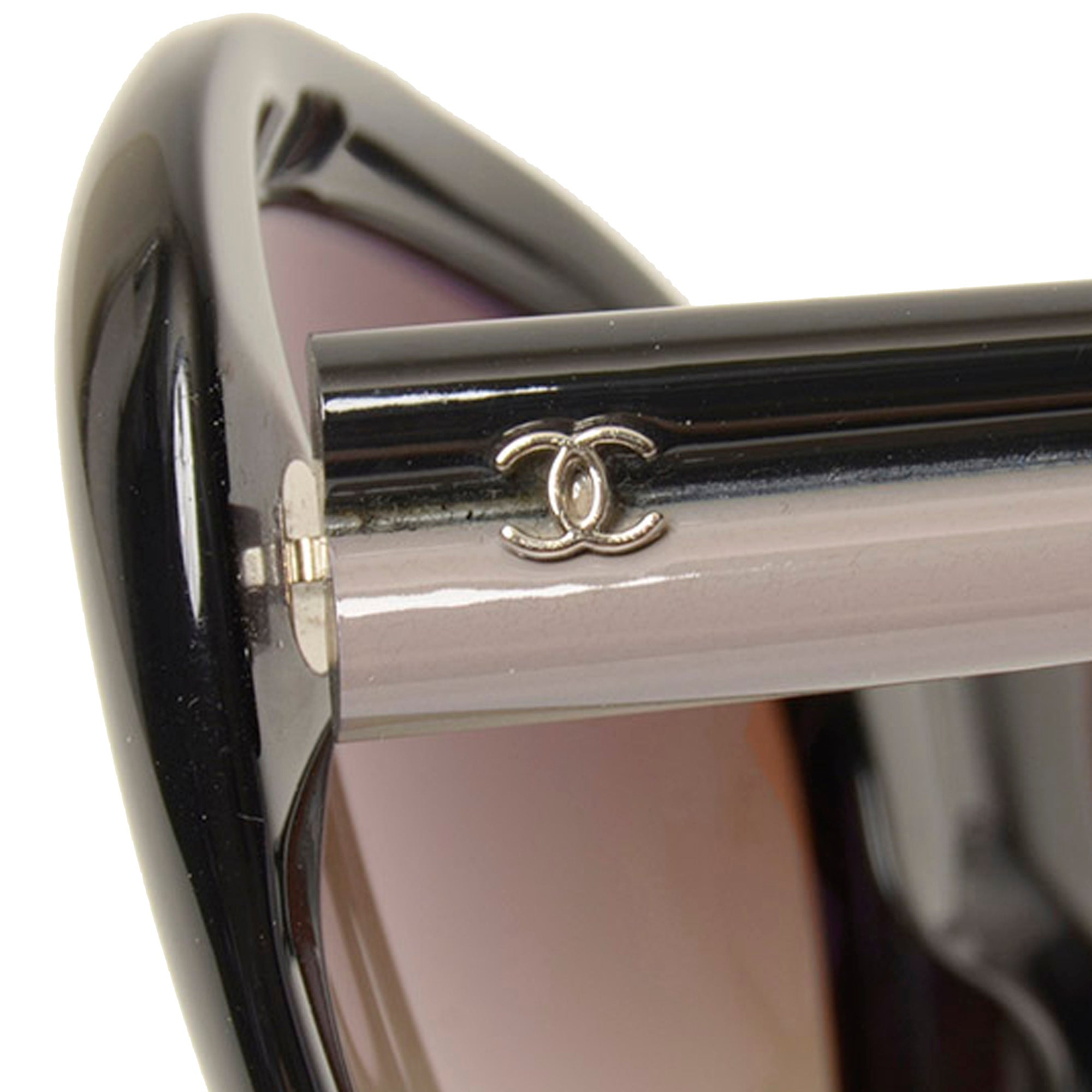 Chanel Black Round Tinted Sunglasses