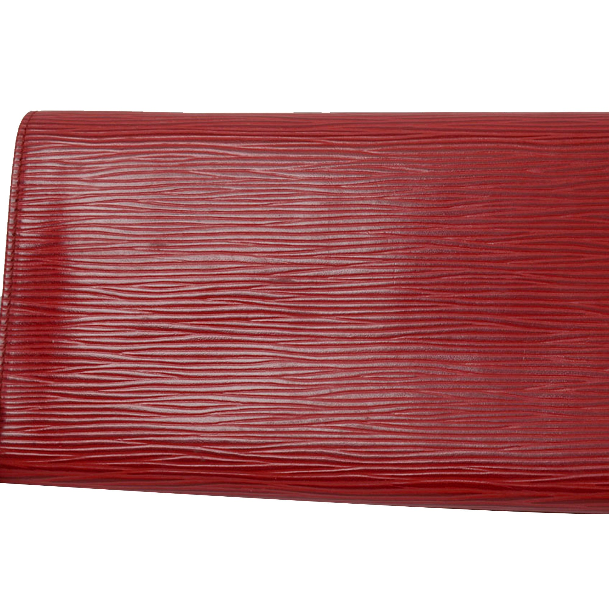 Louis Vuitton Red Epi Rouleau Bijoux Jewelry Roll
