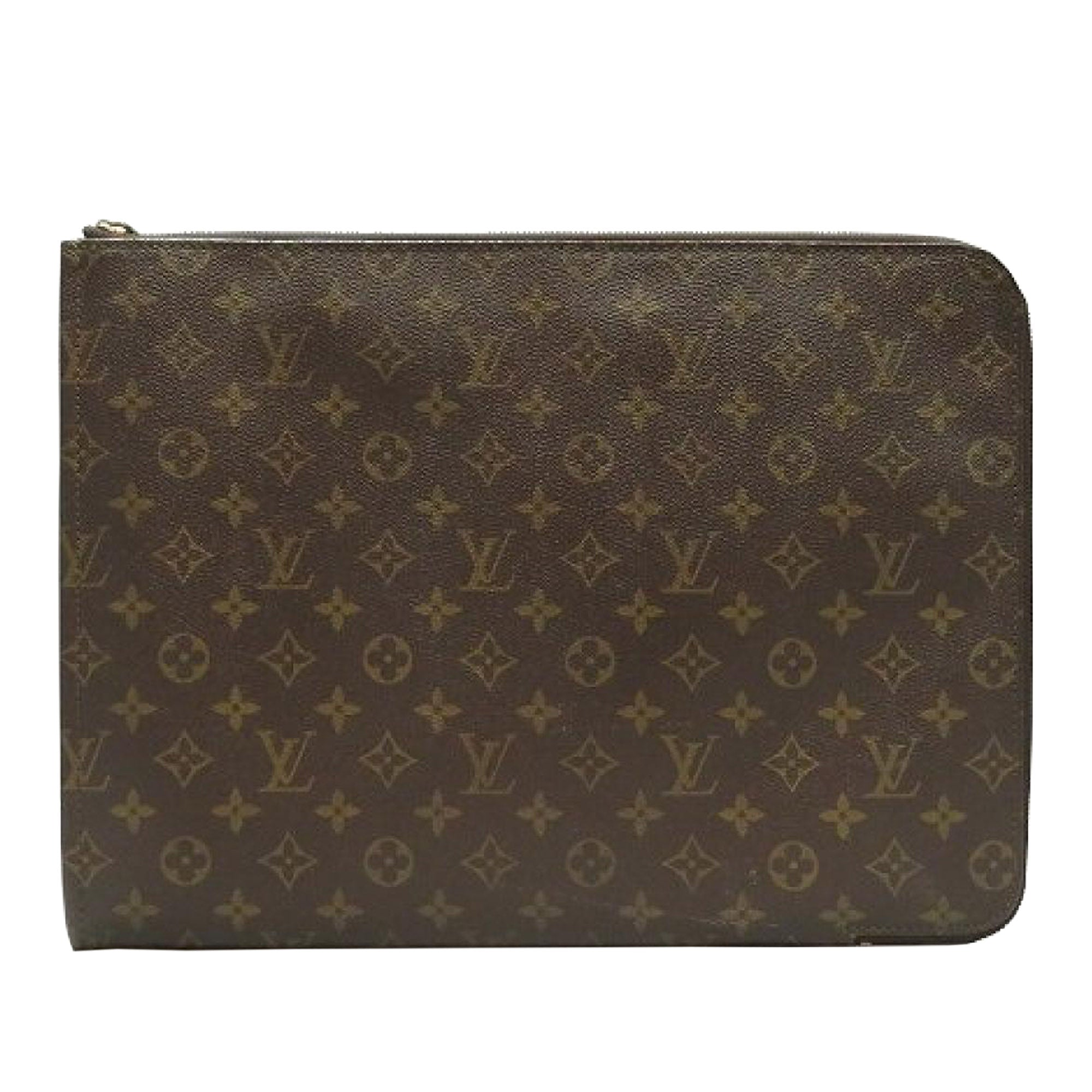 Louis Vuitton Brown Monogram Poche Documents Portfolio
