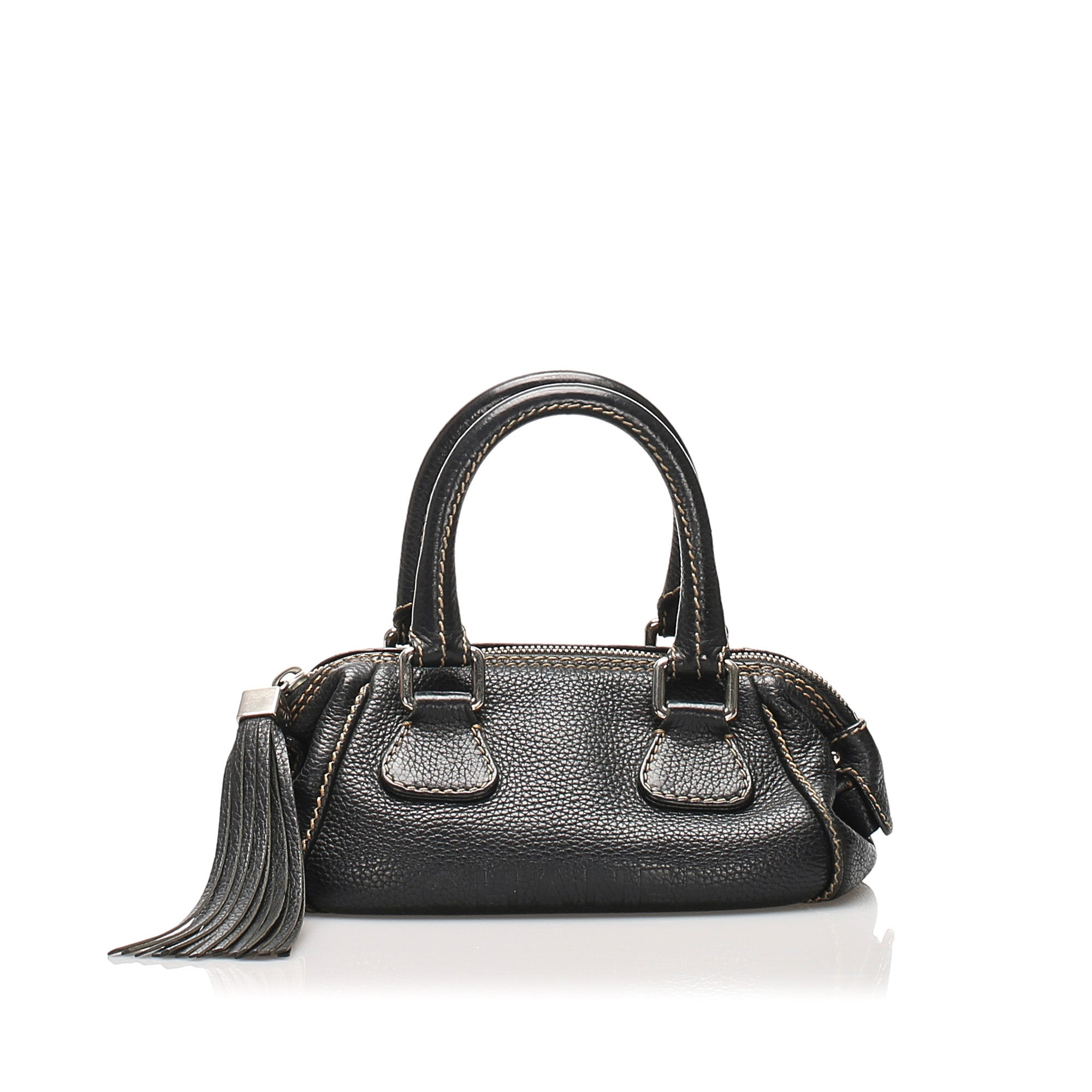 Chanel Black Mini Caviar Leather Handbag