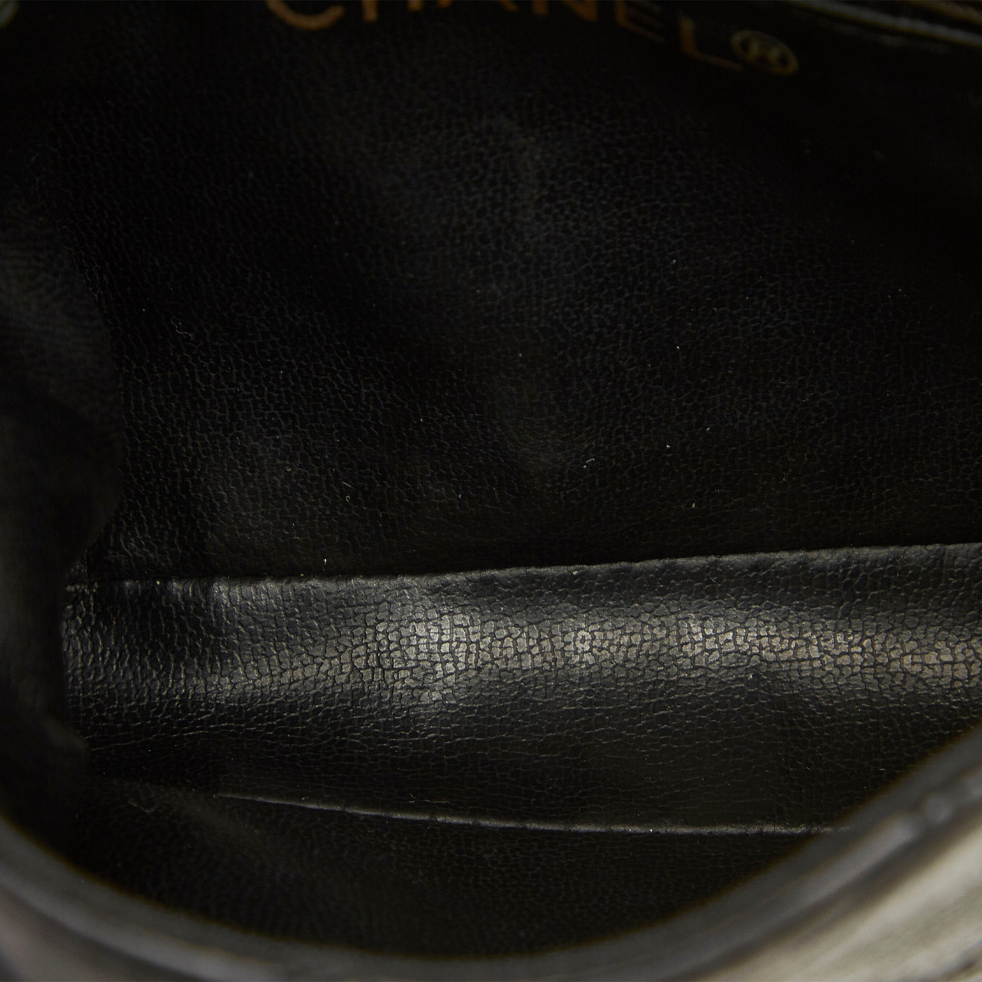 Chanel Black Matelasse Lambskin Leather Belt Bag