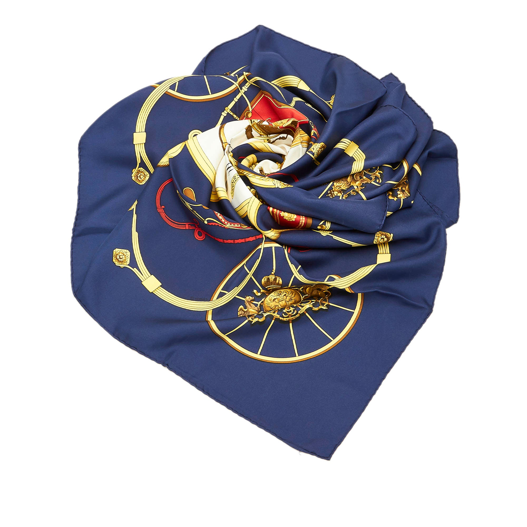 Hermes Blue Springs Silk Scarf