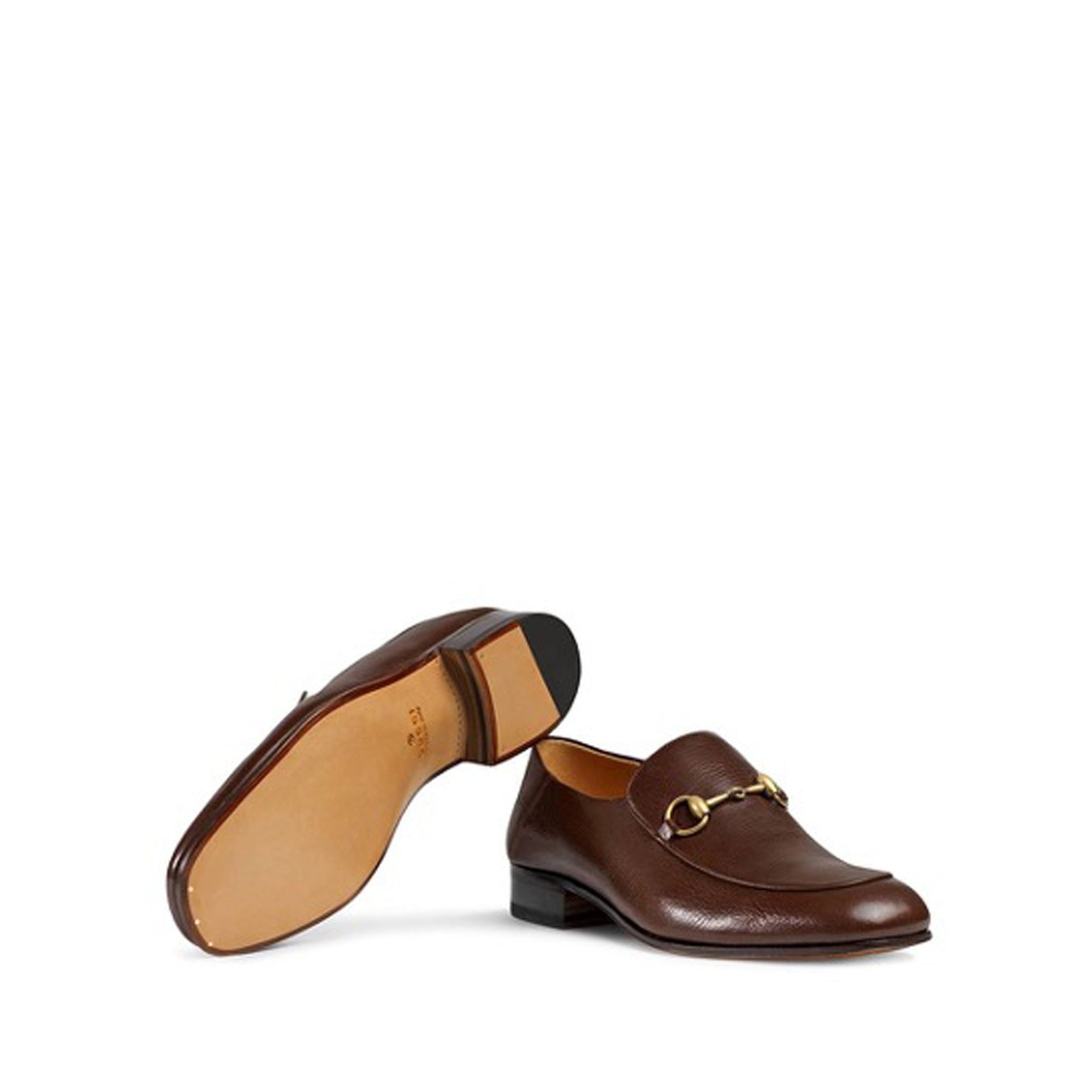 Gucci Brown Horsebit Loafers