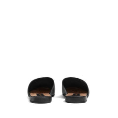 Gucci Black NY Yankees Leather Slippers