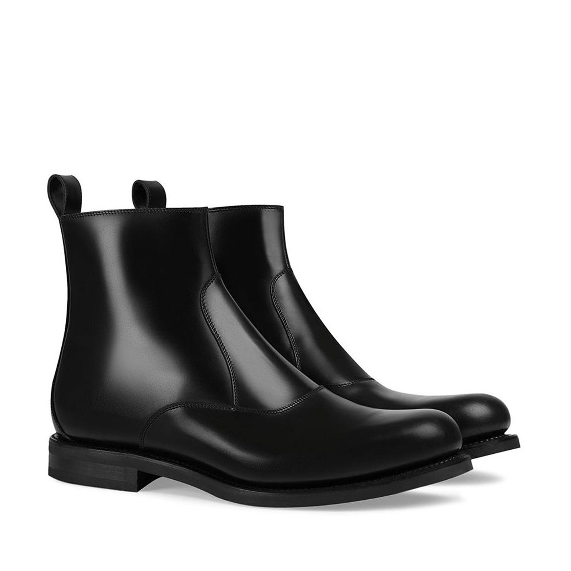 Gucci Black Chelsea Leather Low Boots