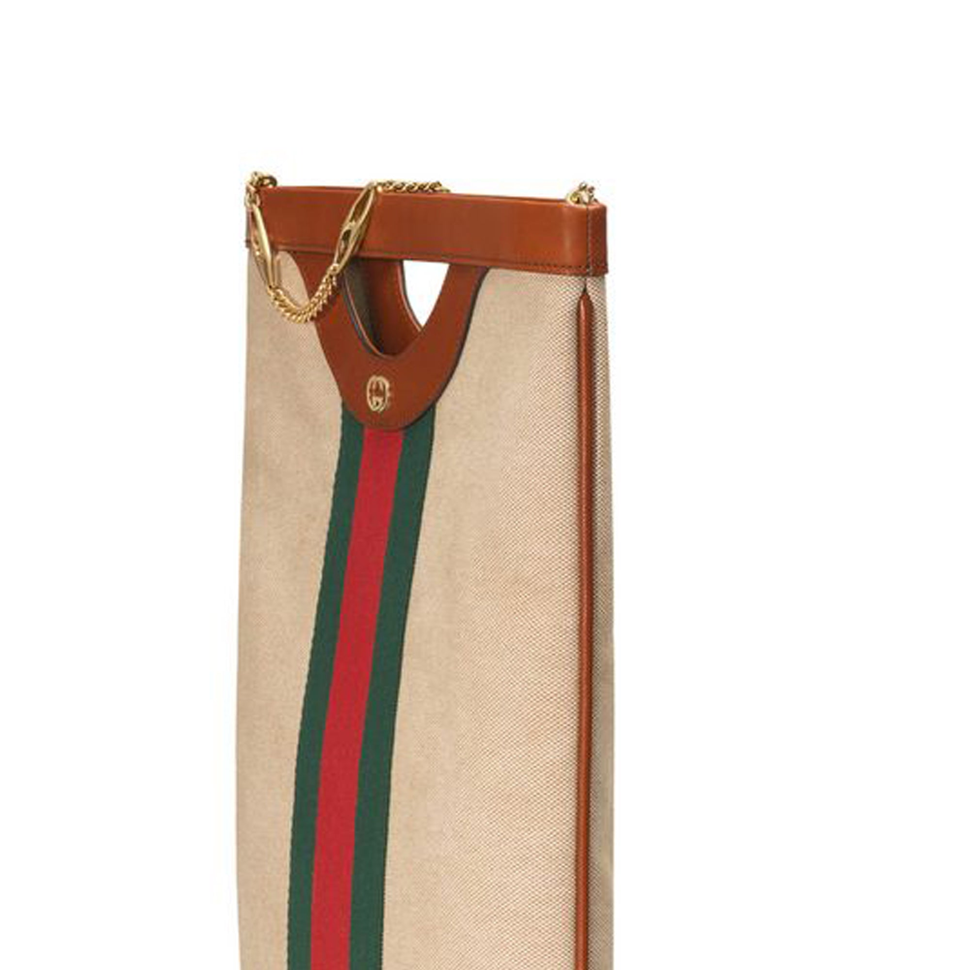 Gucci Brown Web Canvas Tote Bag